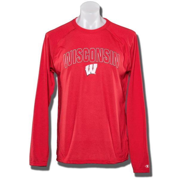 52e0b6c3 UW Alumni Store-Champion Quick Dry Long Sleeve Shirt (Red)