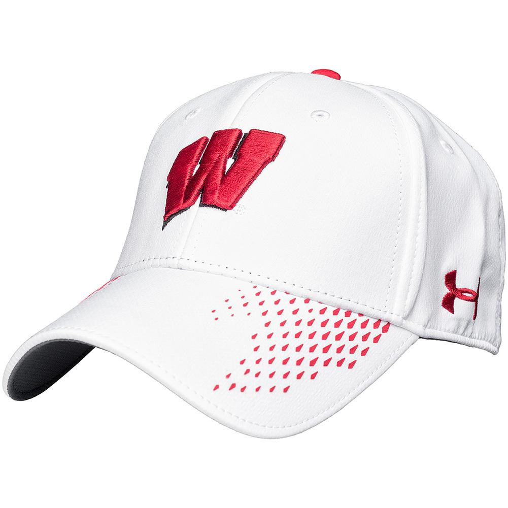 UW Alumni Store-Under Armour Classic Fit Wisconsin Hat (White) 94164cdc3f9