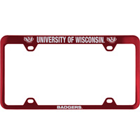 LXG Inc. Engraved UW Badgers License Plate Frame (Red)