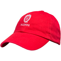 Top Promotions Wisconsin Alumni Hat (Red)