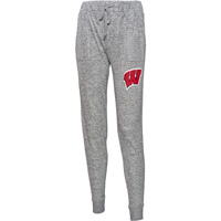 Boxercraft Women's Wisconsin Cuddle Joggers (Gray)