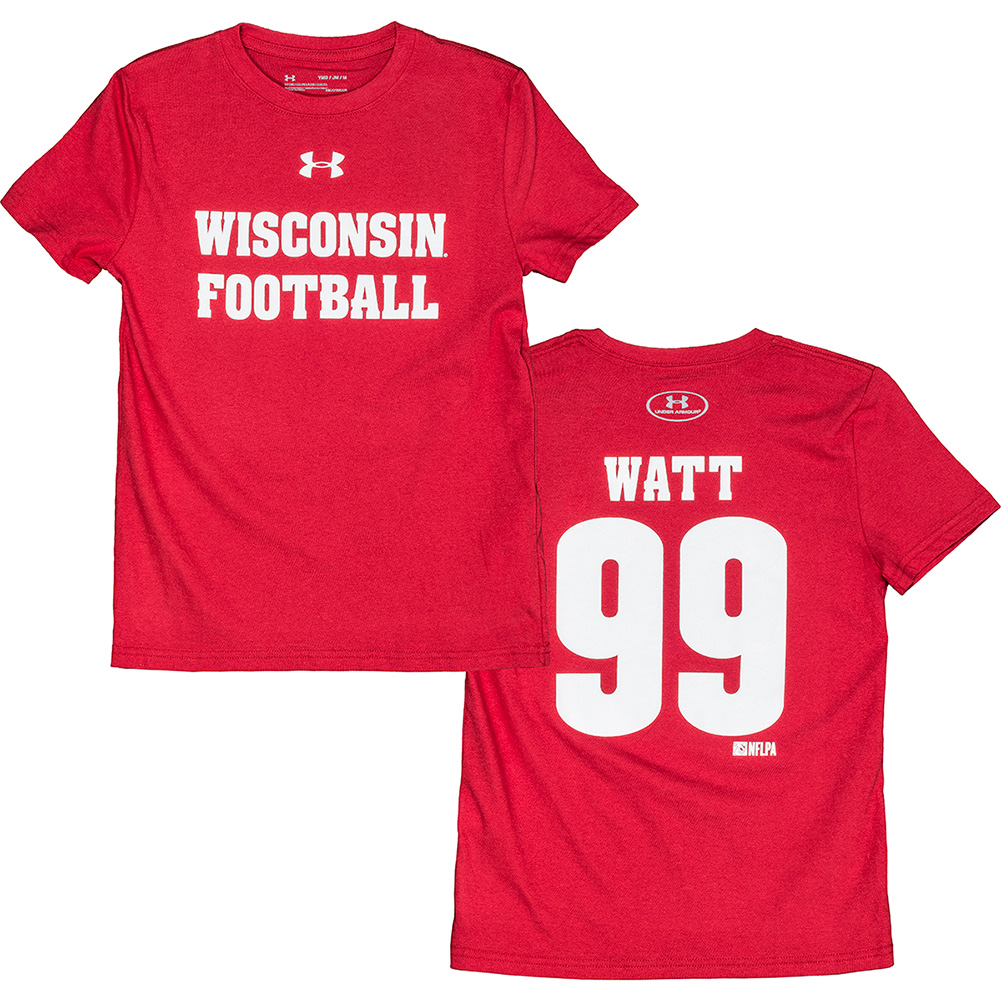 pretty nice 6c331 4536b UW Alumni Store-Under Armour Youth WI Football JJ Watt T ...