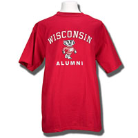 Image For Blue 84 Wisconsin Alumni T-Shirt (Red)