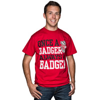 Image For Blue 84 Once a Badger T-Shirt (Red)
