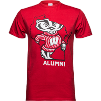 Image For Top Promotions State Alumni Wisconsin T-Shirt (Red)