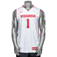 Image For Under Armour WI Replica Basketball Jersey #1(White) *