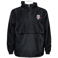Image For Champion Wisconsin Badger Hooded Pack N Go Jacket (Black)