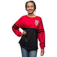 Image For Boxercraft Women's Script Pom Pom Long Sleeve T-Shirt (R/B)