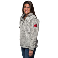 Image For Boxercraft WI ¼ Zip Sherpa Sweatshirt (Gray)