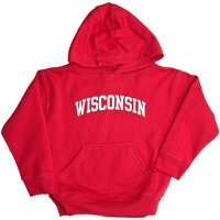 Image For College Kids Toddler WI Hooded Sweatshirt (Red)