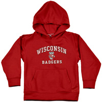Image For College Kids Toddler Wisconsin Badgers Hoodie (Red)