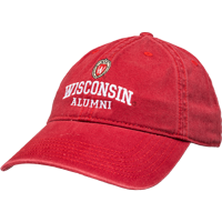 Image For Legacy Wisconsin Adjustable School Hat - Alumni (Red)