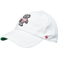 Image For '47 Brand Fitted Bucky Badger Hat (White) *
