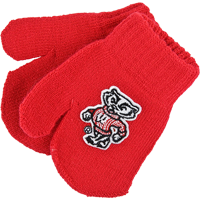 Image For Creative Knitwear Bucky Badger Mittens (Red)