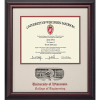 Cover Image For Alumni Artwork School Diploma Frame-Engineering