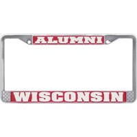Image For Spirit Products Wisconsin Alumni License Plate Frame