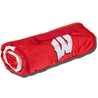 Image For Logo Chair All Weather Wisconsin Blanket (Red)