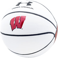 Cover Image For Under Armour Wisconsin Official Size Autograph Basketball