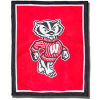 Cover Image For The Jardine Collection Bucky Badger Knit Blanket