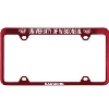 Image for LXG Inc. Engraved UW Badgers License Plate Frame (Red)
