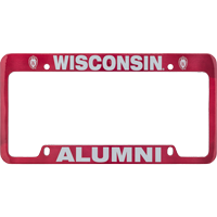 Image For LXG Inc. Wisconsin Alumni License Plate Frame (Red)