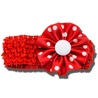 Image For Ashley on Campus Flower Headband (Red)