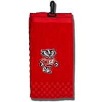 Image For Team Golf Bucky Badger Embroidered Towel (Red)