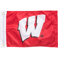Image For Sewing Concepts Wisconsin Badgers Boat Flag