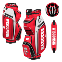 Image For Team Effort Wisconsin Badger Cooler Cart Golf Bag