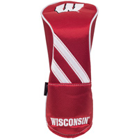 Image For Team Effort Wisconsin Fairway Headcover (Red)