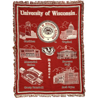 Image For Pure Country Woven UW-Madison Blanket (Red/Cream/Black)
