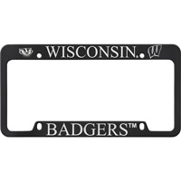 Image For LXG Inc. Wisconsin Badgers License Plate Frame (Black)