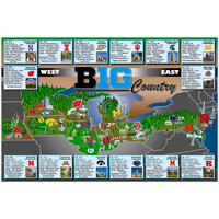 Image For Alma Mater Maps Big Ten Poster