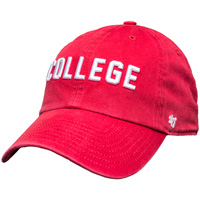 Image For '47 Brand College Adjustable Hat (Red) *