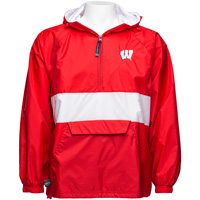 Image For Charles River Apparel Wisconsin Pullover Jacket (Red/White)*