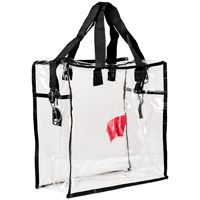 Image For Neil Enterprises, Inc. Wisconsin Badgers Clear Tote (Black)