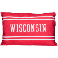 Image For League Wisconsin Throw Pillow (Red)