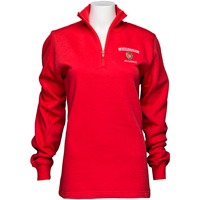 Image For Top Promotions Women's ¼ Zip Alumni Sweatshirt (Red) *