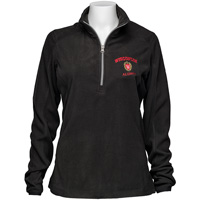 Image For Top Promotions Women's WI Alumni ¼ Zip Fleece (Black) *