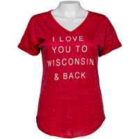 Image For Blue 84 Women's Wisconsin Love T-Shirt (Red)