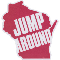 Image For Blue 84 Wisconsin Jump Around Sticker Decal