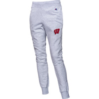 Image For Champion Wisconsin Motion W Sweatpants (Silver Gray)