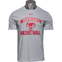 Image For Under Armour Wisconsin Basketball T-Shirt (Gray)