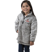 Cover Image For Boxercraft Youth Wisconsin ¼ Zip Sherpa Sweatshirt (Gray)