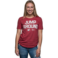 Image For Under Armour Women's Jump Around Tri-Blend T-Shirt (Red)