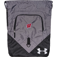 Image For Under Armour Wisconsin Undeniable Sackpack (Gray)