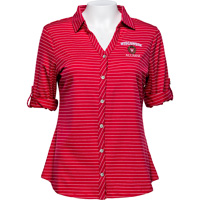 Image For Cutter & Buck Women's Wisconsin Alumni Shirt (Red) *