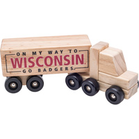 Image For Neil Enterprises Inc. Wisconsin Wooden Semi-Truck Toy
