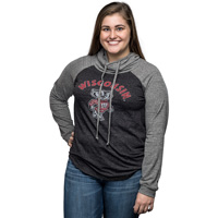 Image For Blue 84 Women's Wisconsin Hooded Long Sleeve (Gray/Charcoal)