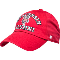 Image For '47 Brand Adjustable Wisconsin Alumni Hat (Red) *